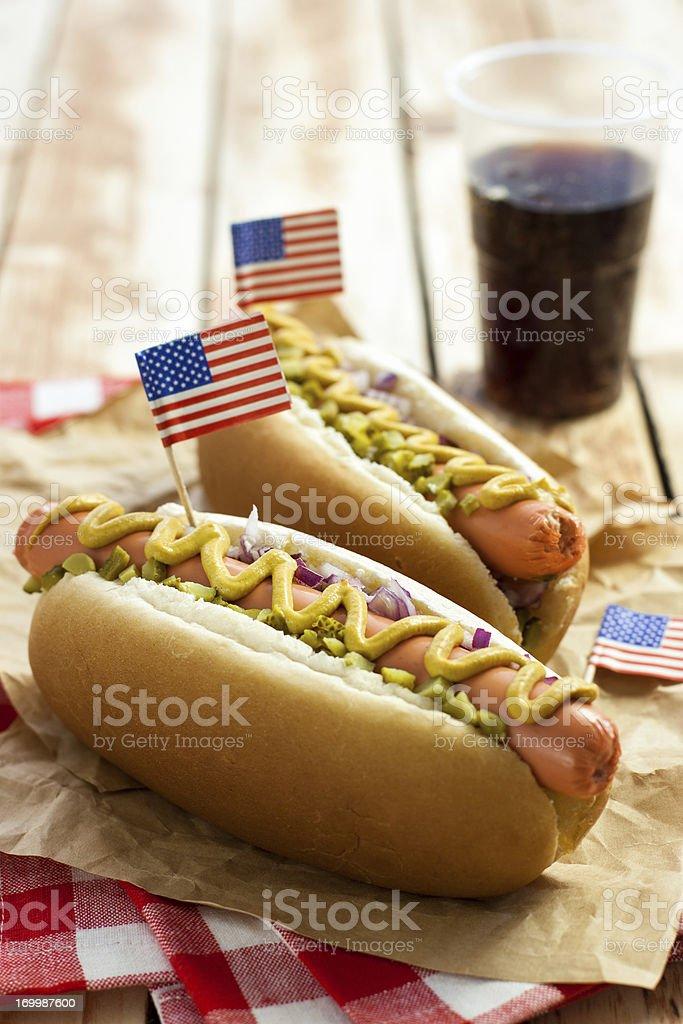 American Hotdog stock photo