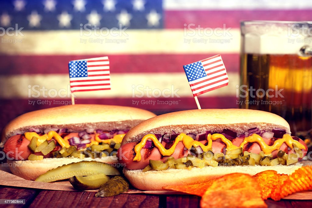 American Hotdog stock photo