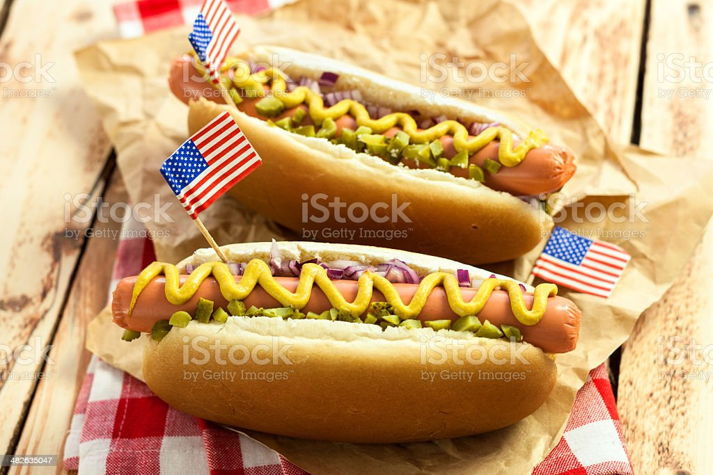 American Hotdog royalty-free stock photo