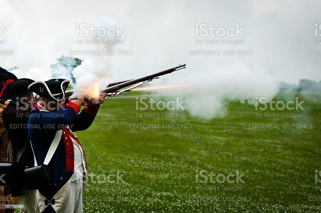 American Independance Militia stock photo
