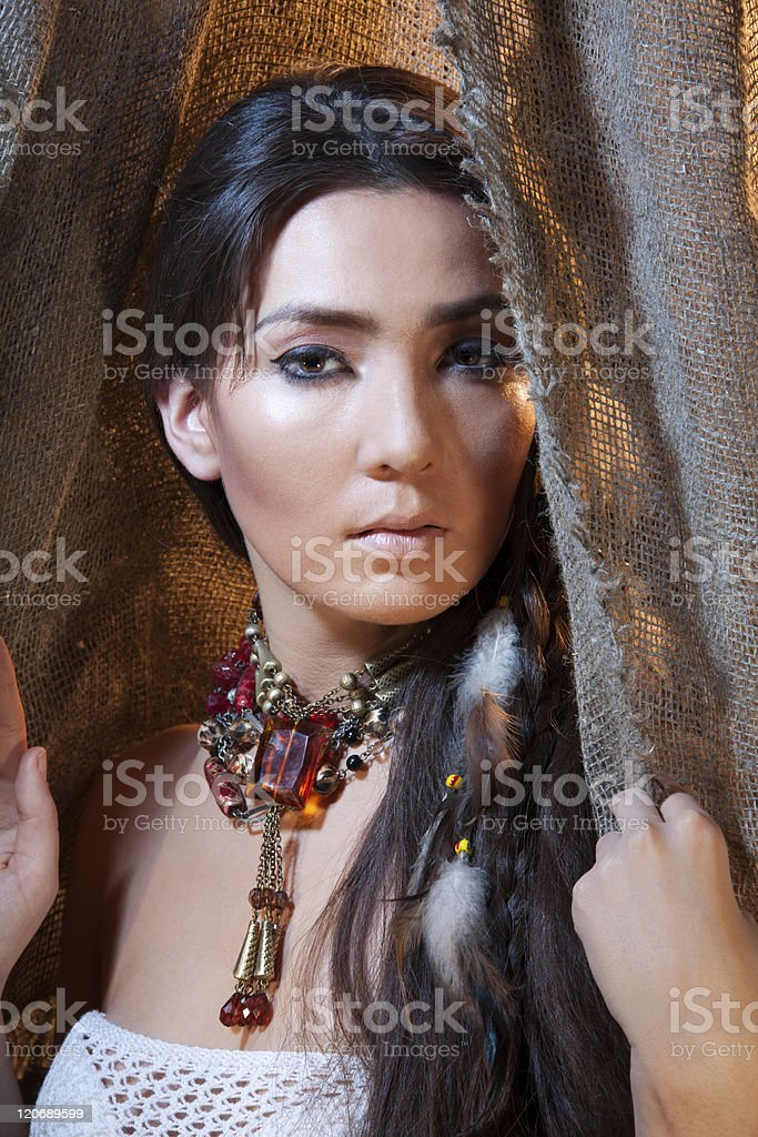 American Indian beauty stock photo