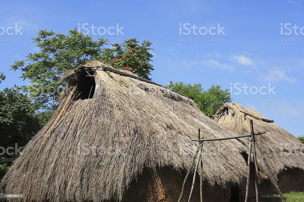 American Indian Village stock photo