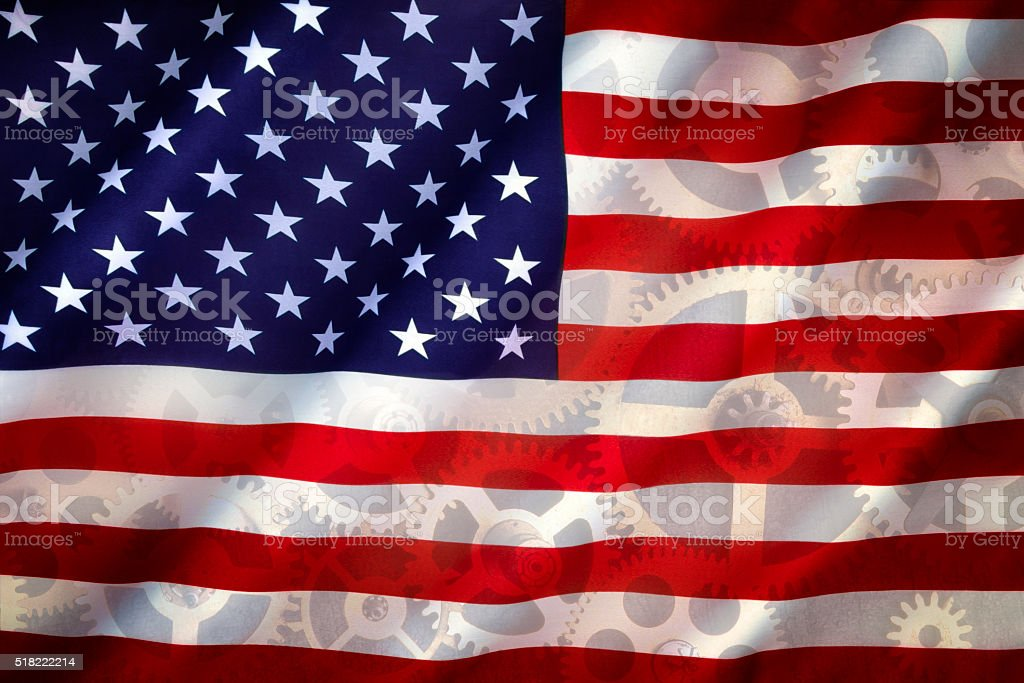 American Industry - Flag of the U.S.A. stock photo