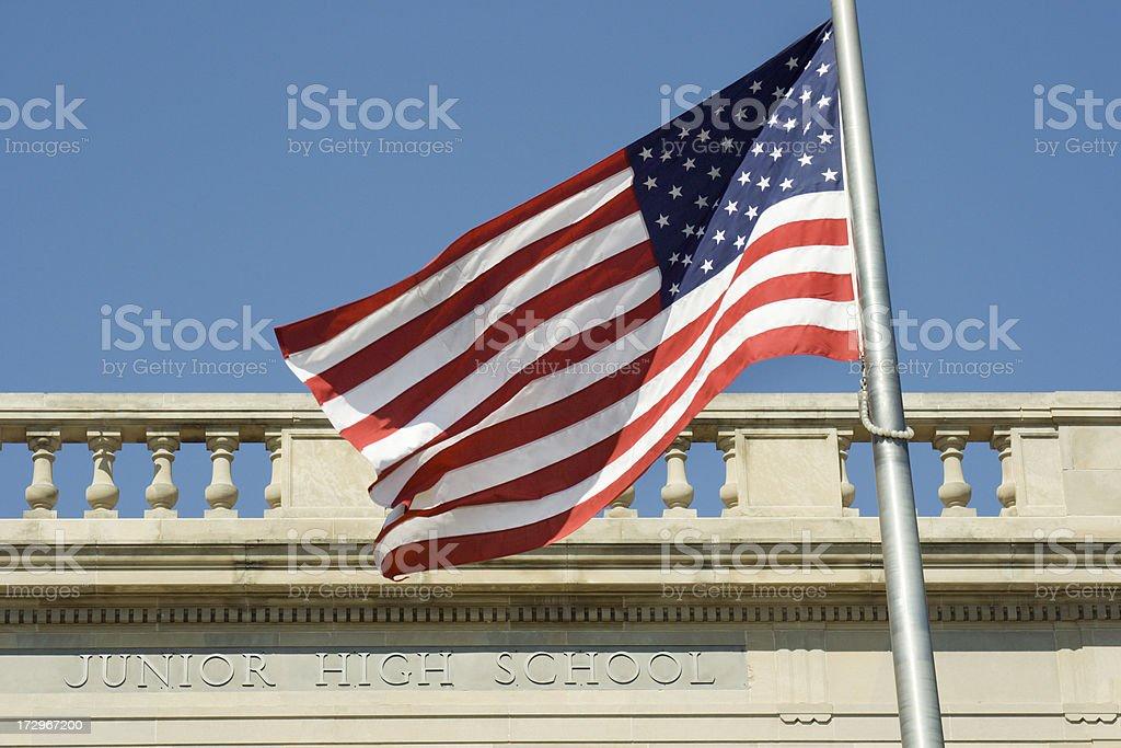 American Junior High School royalty-free stock photo