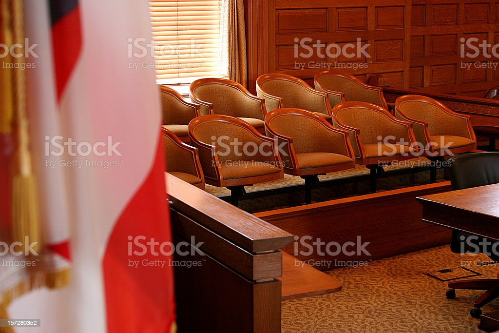 American Jury Seats royalty-free stock photo