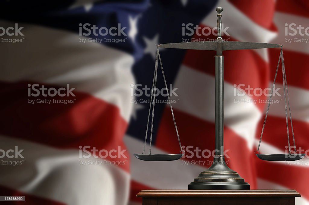 American Justice royalty-free stock photo