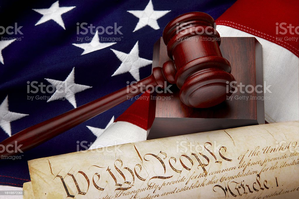 American justice still life stock photo