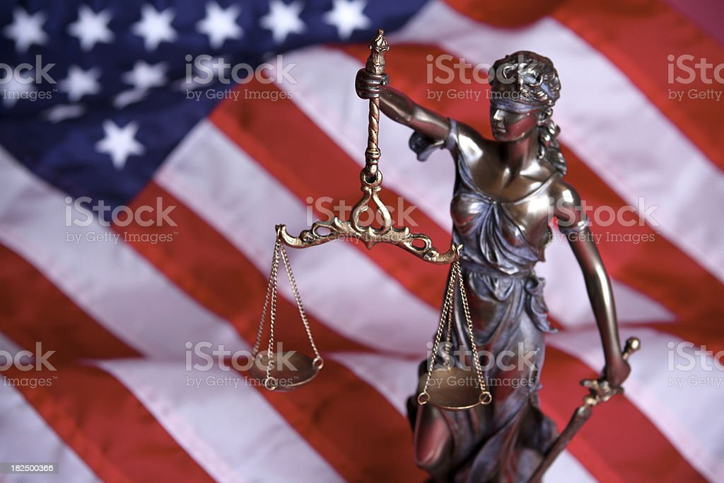 American Lady Justice stock photo