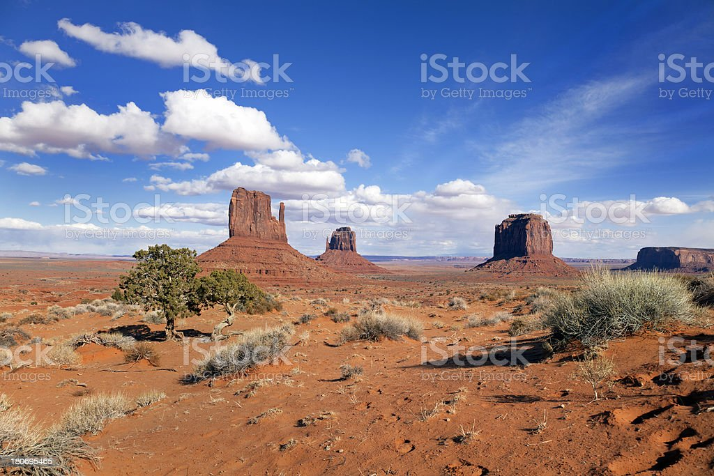 American Landscape - Monument Valley royalty-free stock photo
