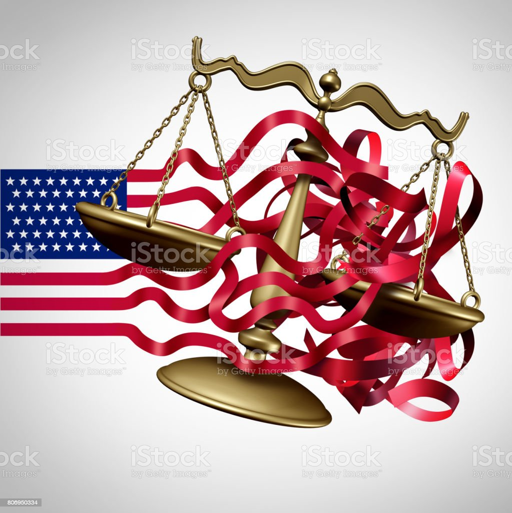 American Legal System Challenge stock photo