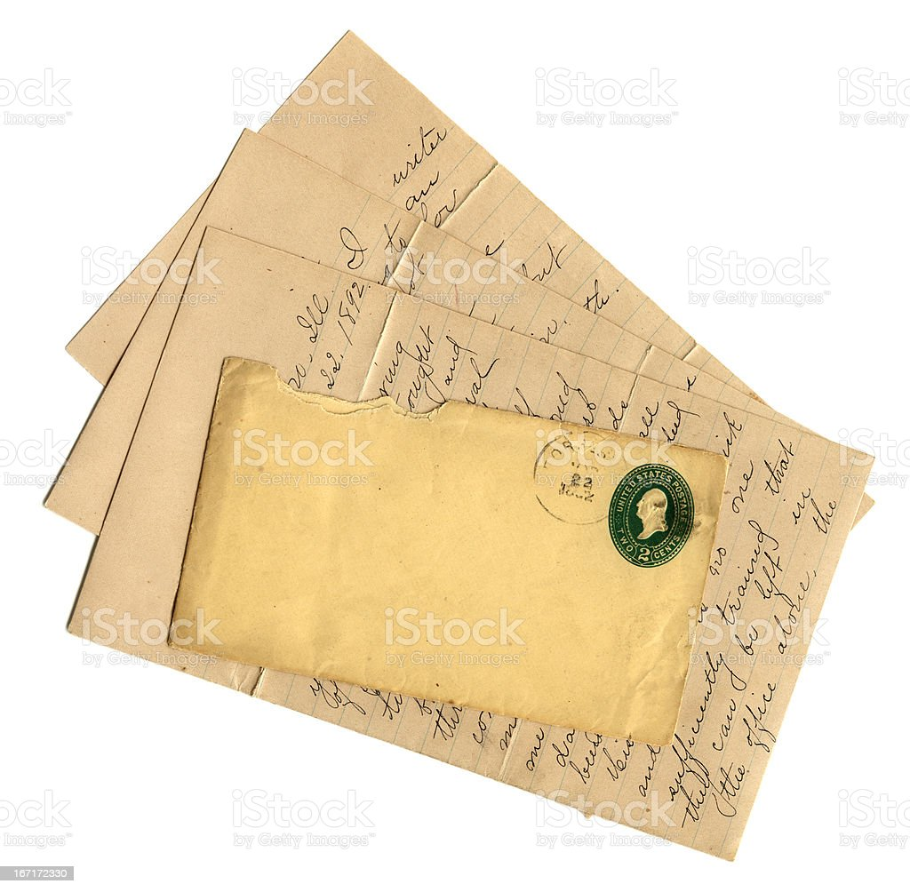 American letter with envelope royalty-free stock photo