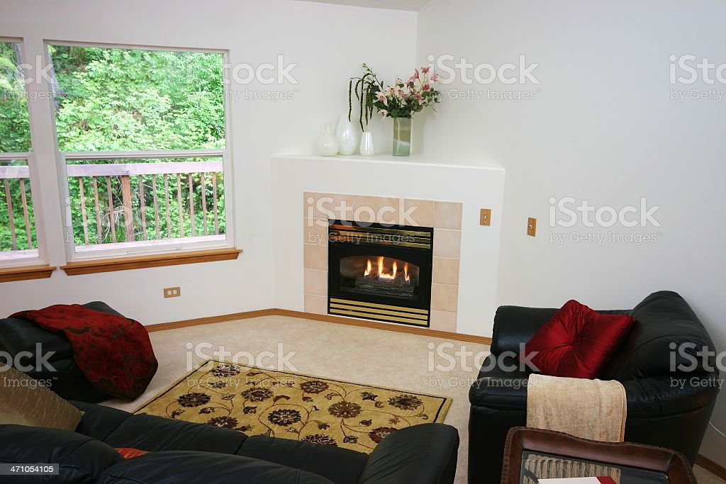 American Living Room royalty-free stock photo