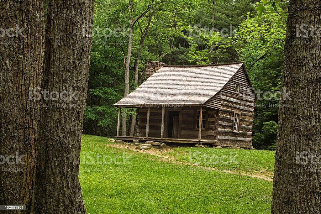 American Log Cabin royalty-free stock photo