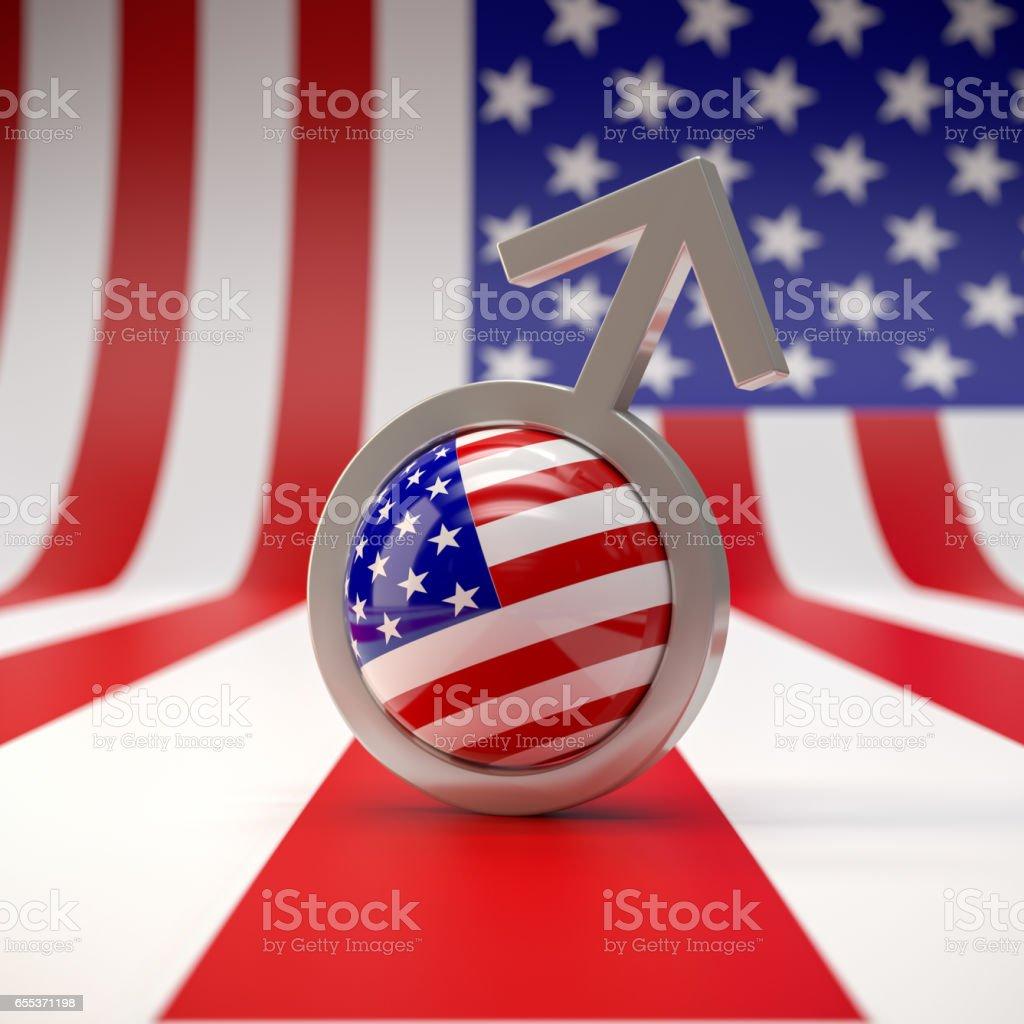 American Man stock photo