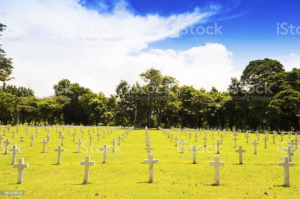 American memorial war cemetery stock photo