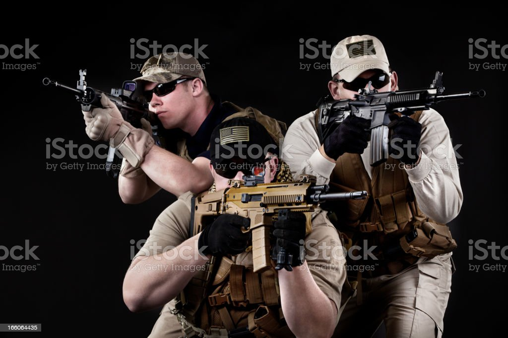 American Military Contractors royalty-free stock photo