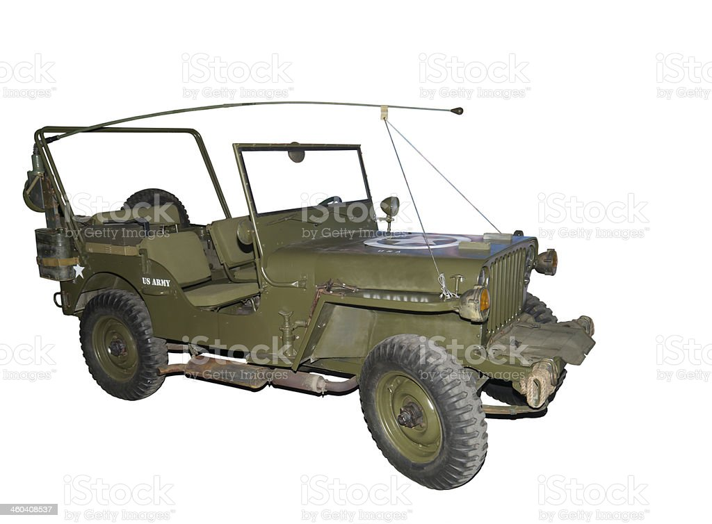 American military 'jeep' ( model of the 1940's) stock photo