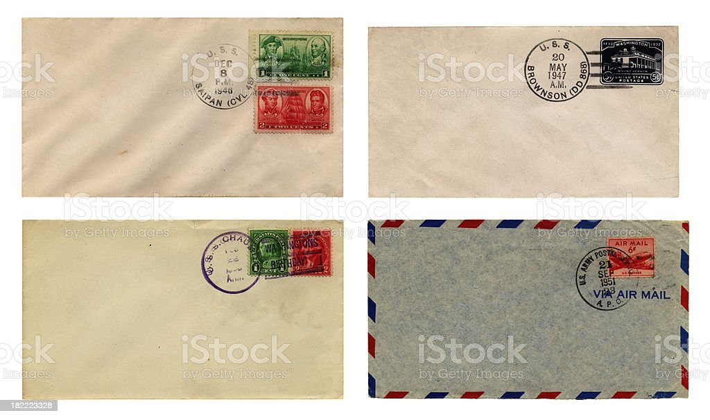 American military mail stock photo