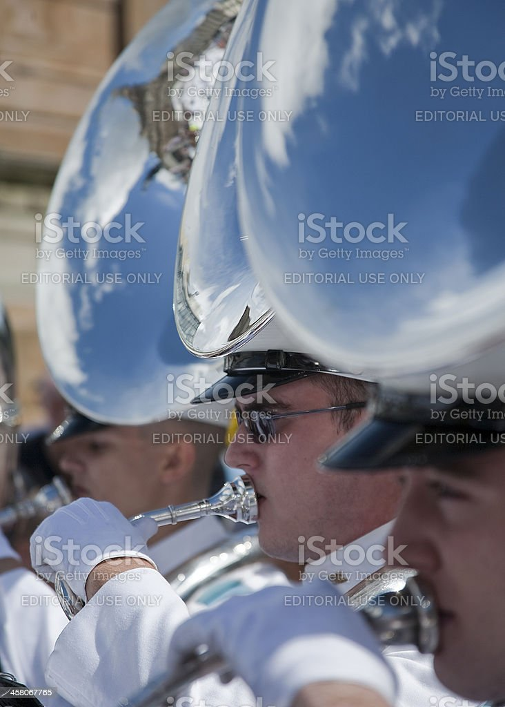 American Military Tattoo Band performs royalty-free stock photo