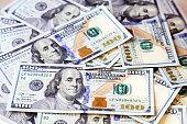 American money dollars  background.