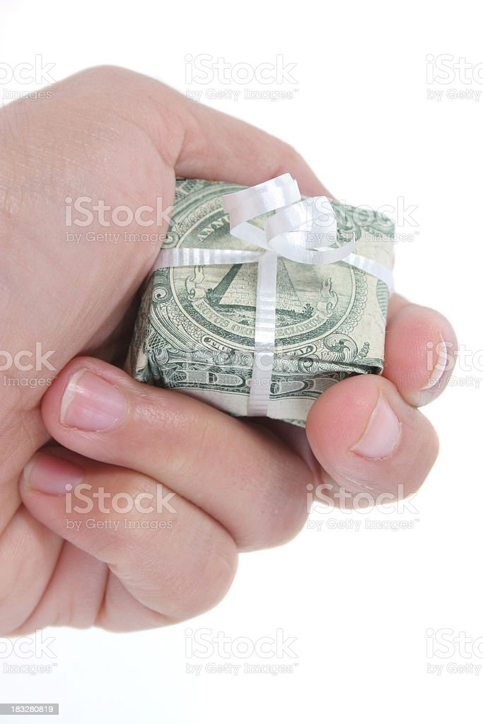American money gift royalty-free stock photo