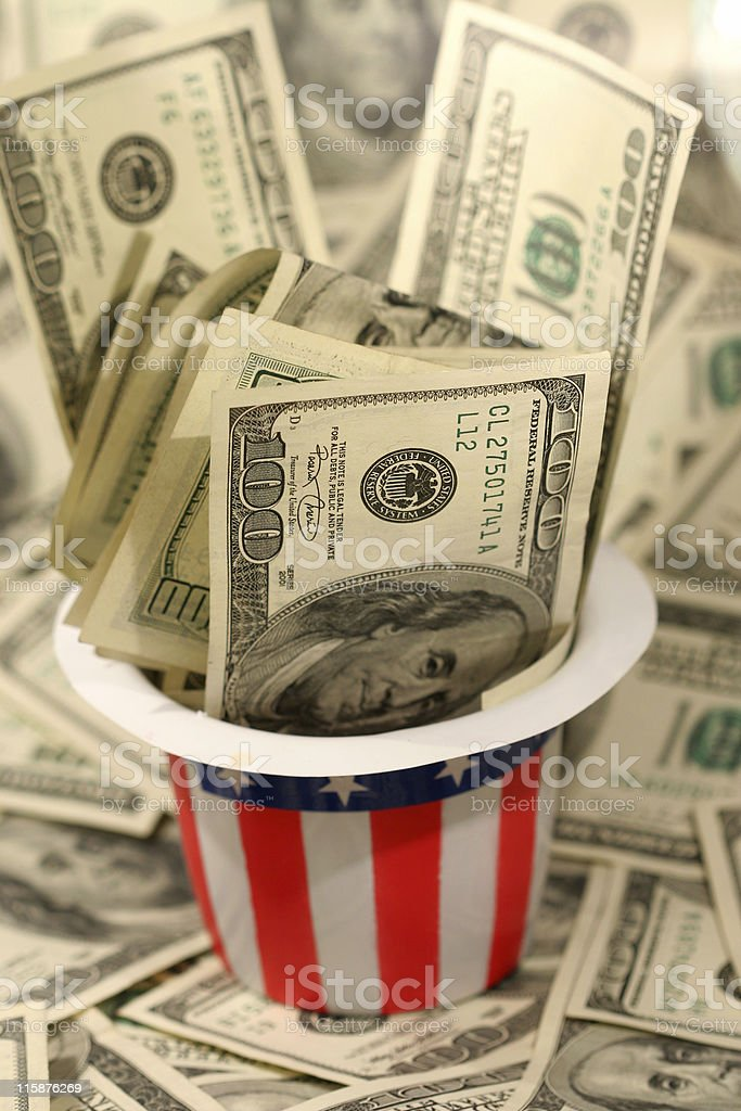American Money royalty-free stock photo