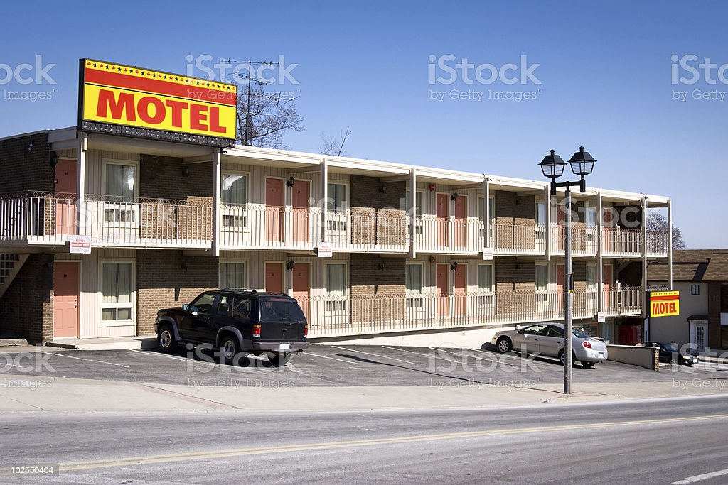 American motel stock photo