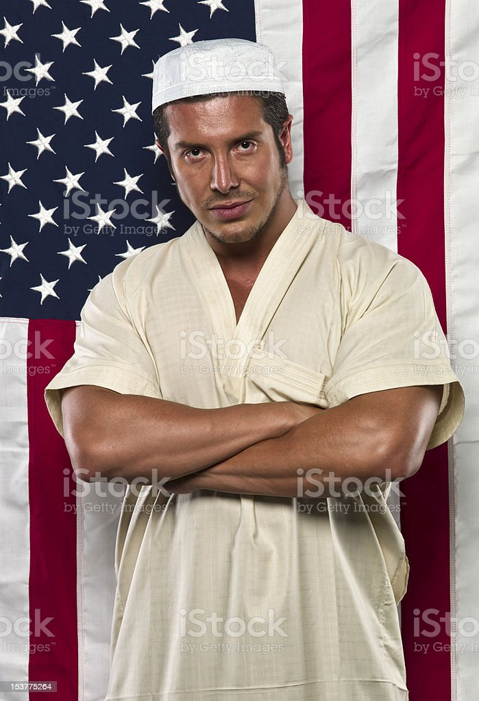 American Muslim Man stock photo