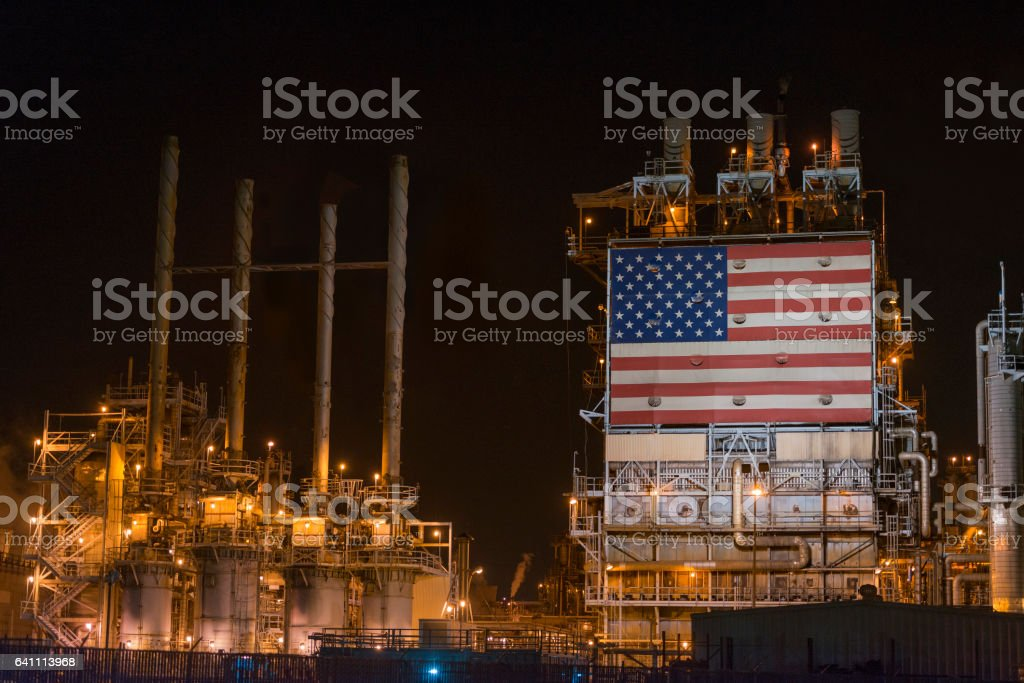 American oil and gas industry stock photo