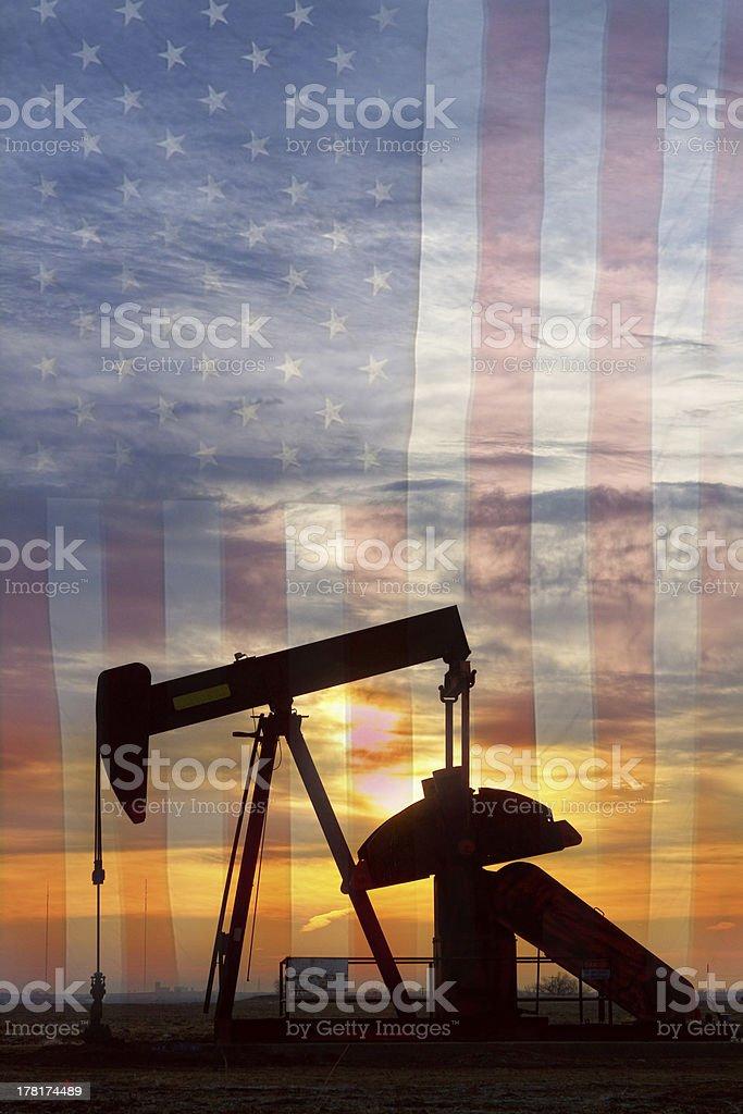 American Oil Portrait stock photo