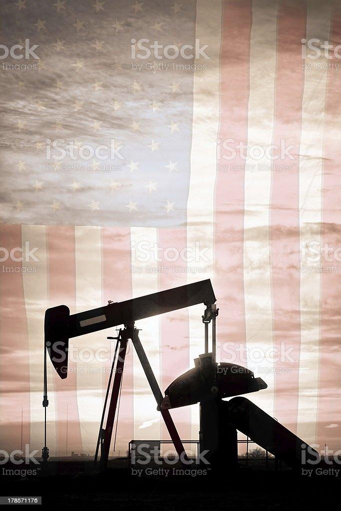 American Oil Well Portrait stock photo