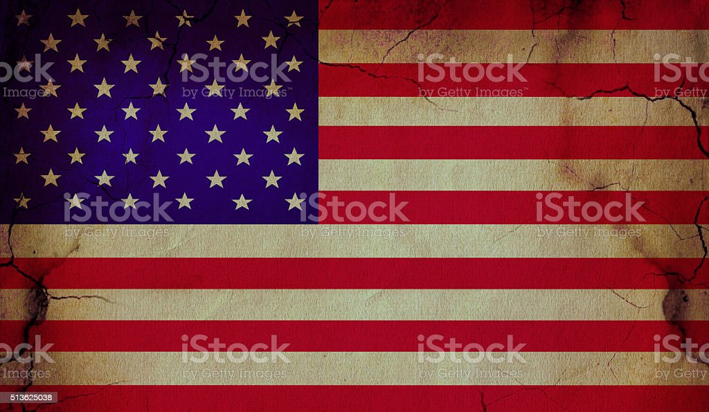 American old Flag stock photo