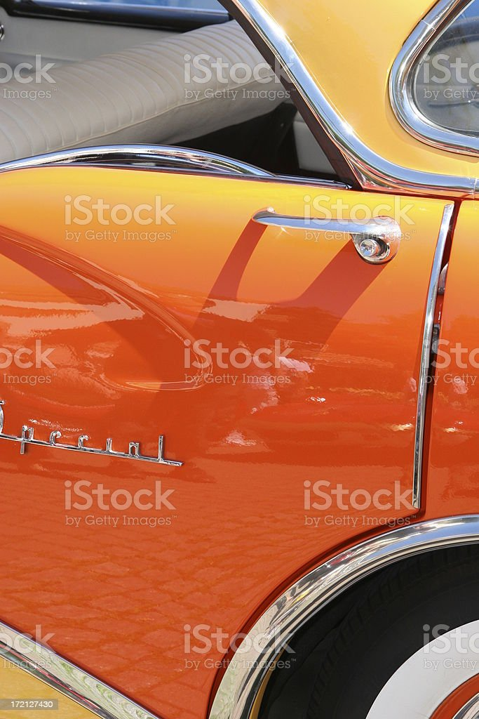 American Oldtimer Rear Side royalty-free stock photo
