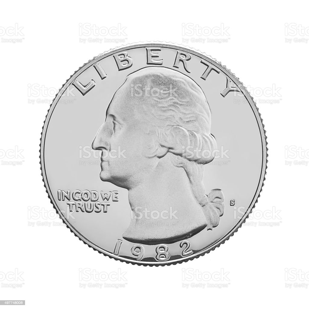 American one quarter coin i stock photo