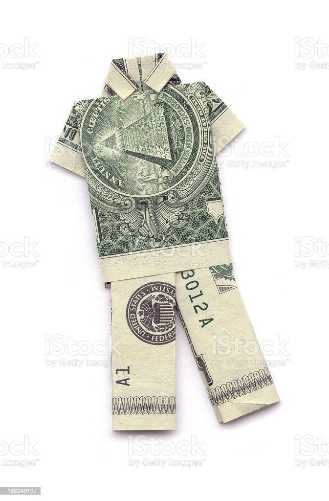 American Origami shirt pants royalty-free stock photo