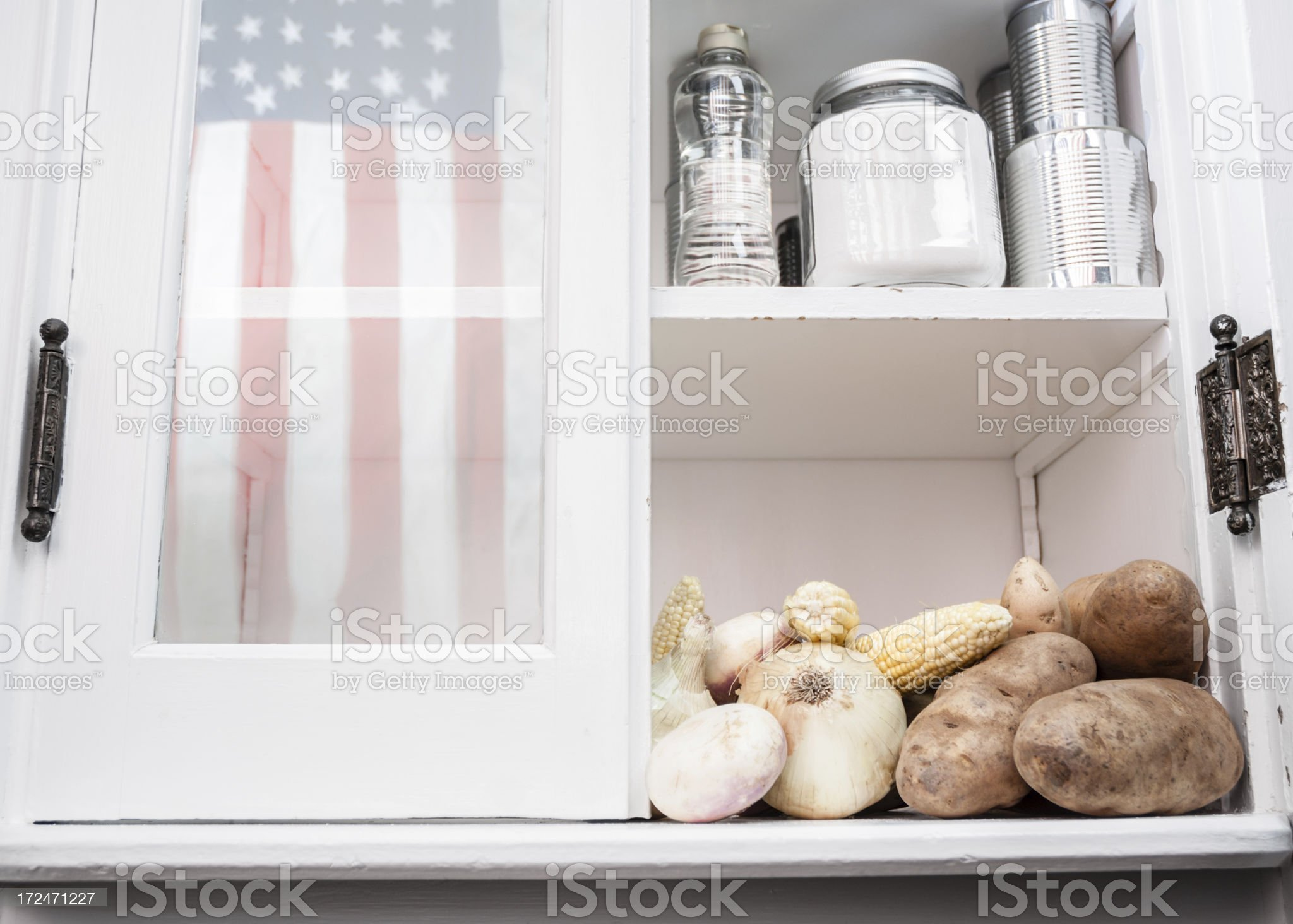 American pantry royalty-free stock photo