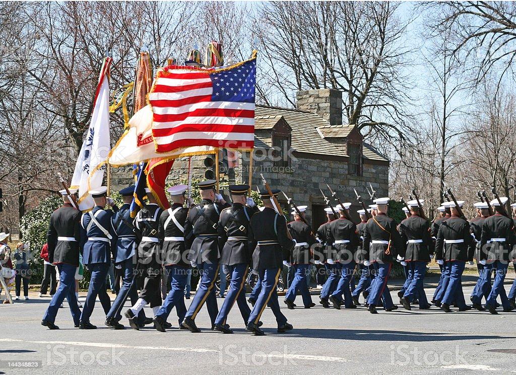 American parade stock photo
