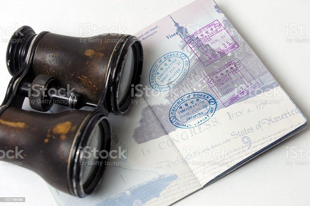 American Passport royalty-free stock photo