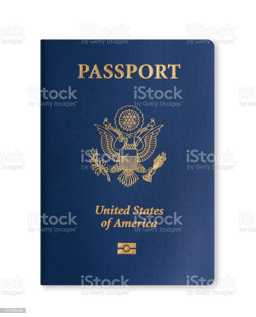 American Passport with biometric data stock photo