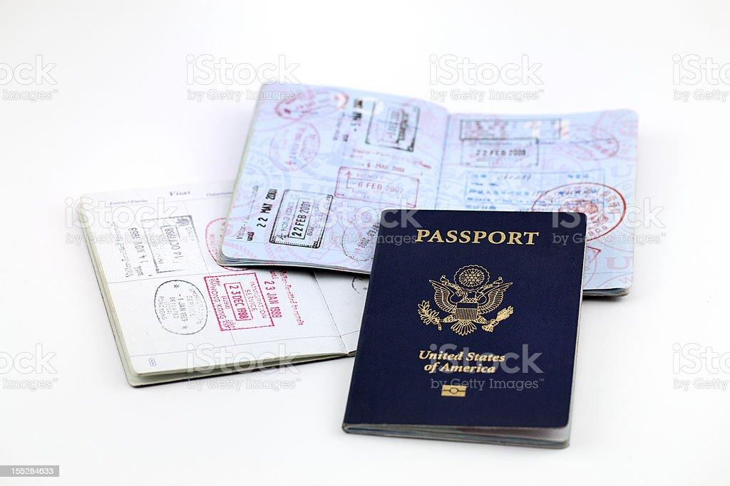 American Passports stock photo