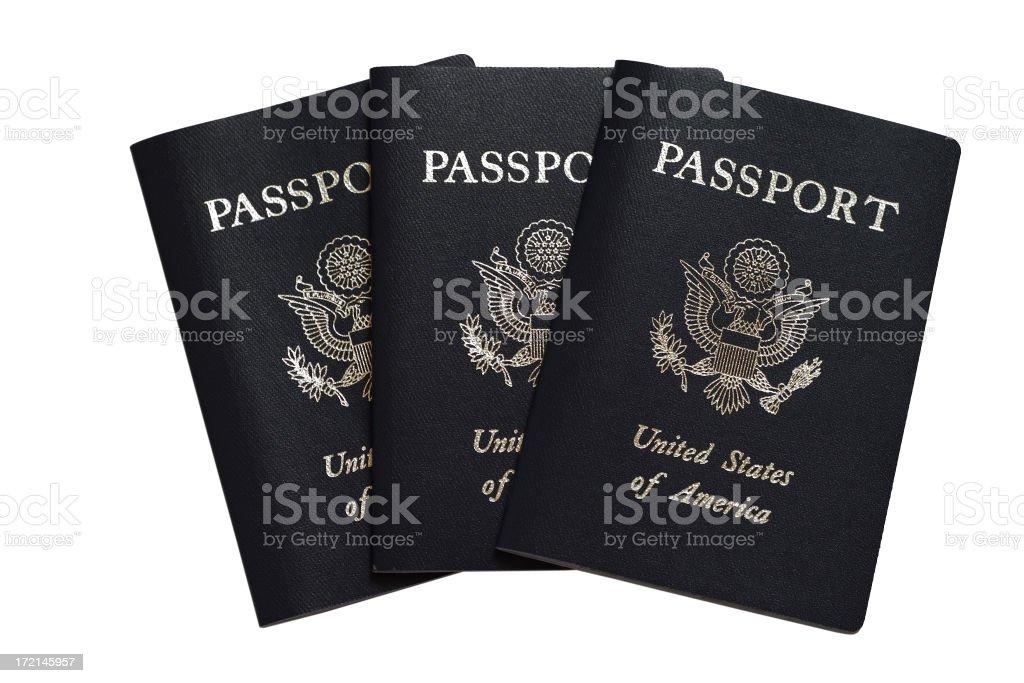American passports royalty-free stock photo