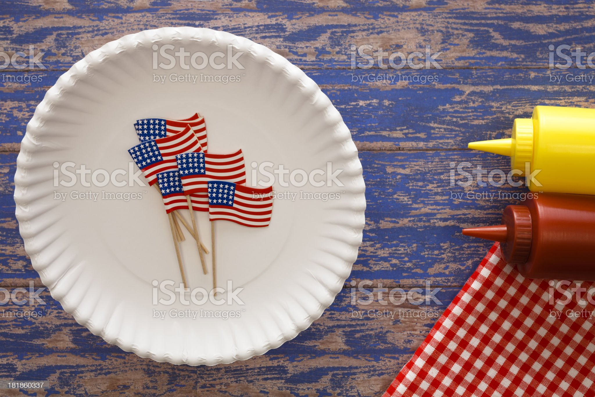 American Patriotic Setting royalty-free stock photo