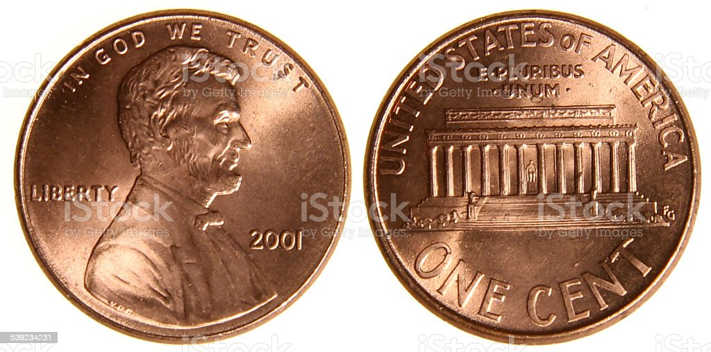 American Penny from 2001 stock photo