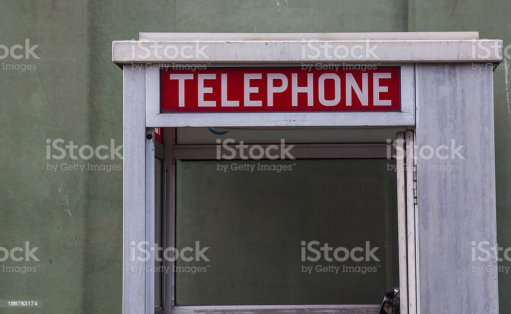 American Phone Box royalty-free stock photo