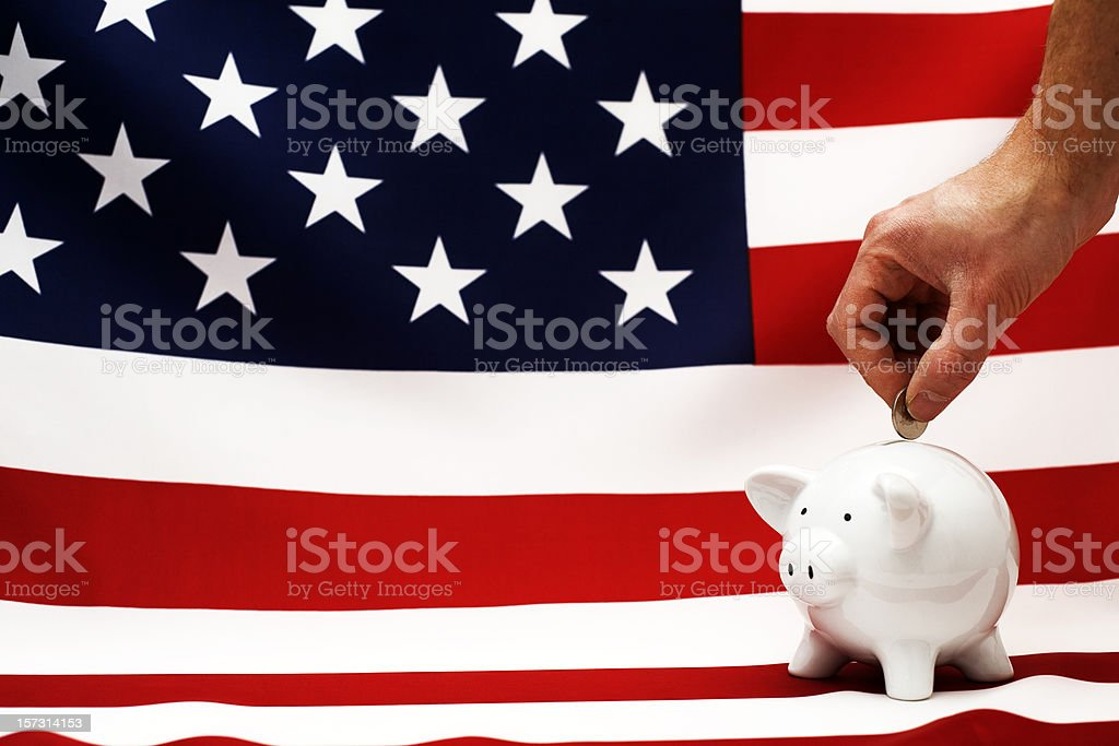 American piggy bank royalty-free stock photo