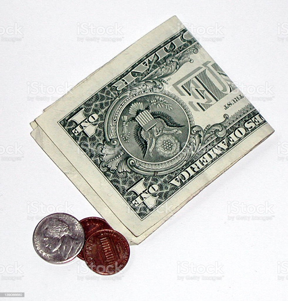 american pocket change royalty-free stock photo