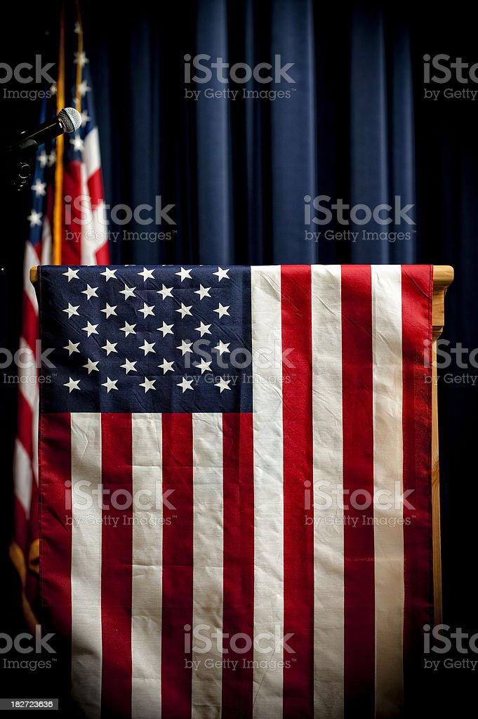American Podium royalty-free stock photo