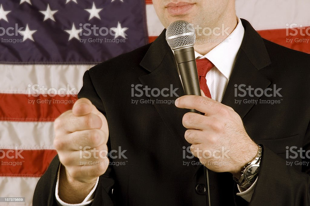 American politician giving a speech royalty-free stock photo