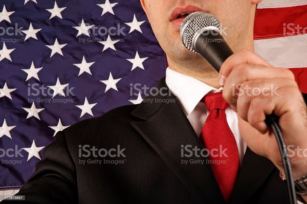 American Politician royalty-free stock photo