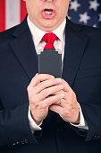 American Politician Texting